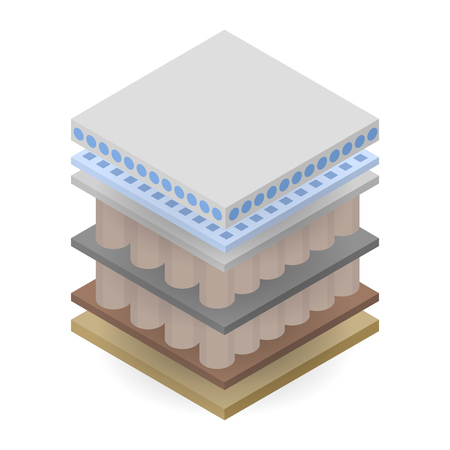Double mattress layer icon. Isometric of double mattress layer vector icon for web design isolated on white background
