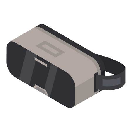Virtual reality glasses icon, isometric style