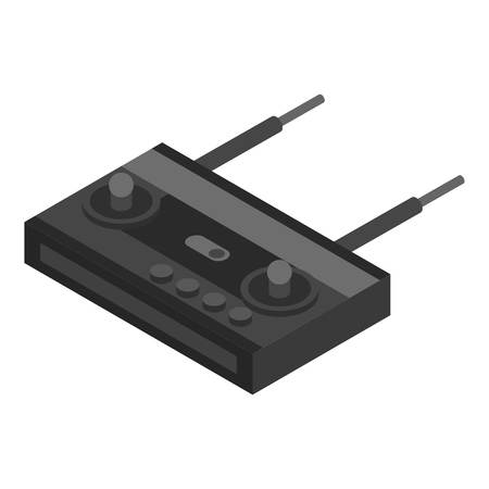 Drone remote control icon. Isometric of drone remote control vector icon for web design isolated on white background 向量圖像