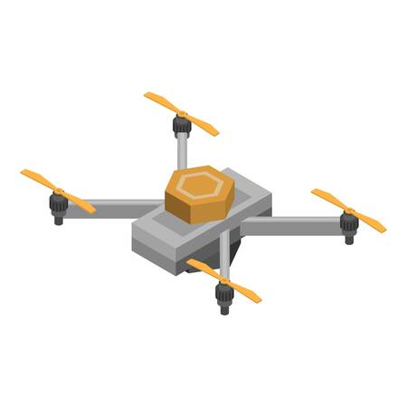 Sensor drone icon. Isometric of sensor drone vector icon for web design isolated on white background