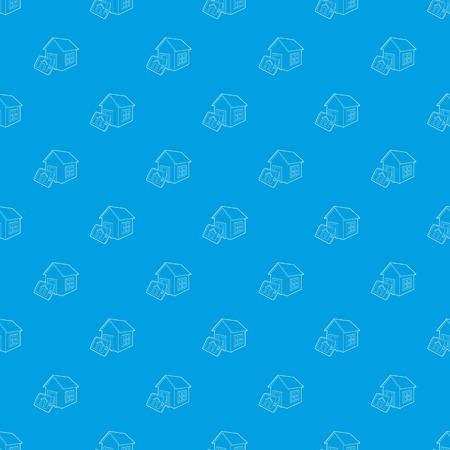 Smart home pattern seamless blue Reklamní fotografie