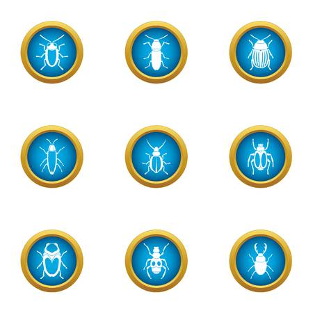 Nullity icons set, flat style
