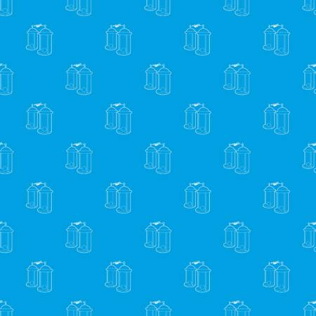 Electrical impulses pattern seamless blue