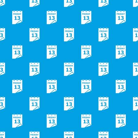 Friday calendar pattern seamless blue
