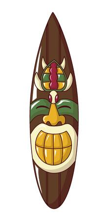 Tahiti idol icon, cartoon style