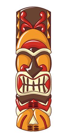 Ancient idol icon, cartoon style 写真素材