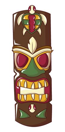 Ritual idol icon, cartoon style