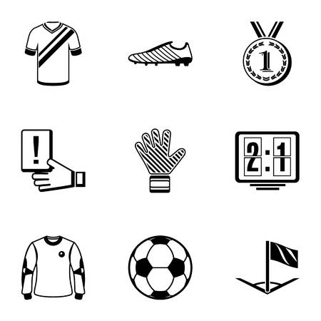 Soccer icons set, simple style Stock fotó