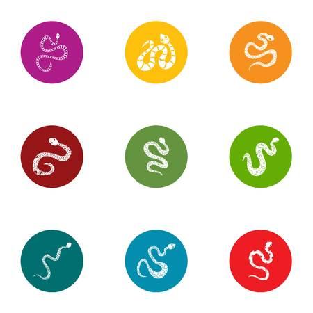 Asp icons set, flat style