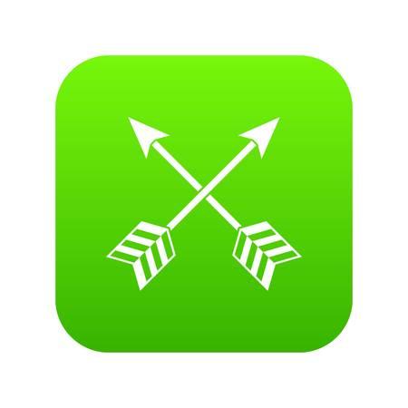 Arrows LGBT icon digital green