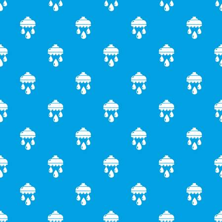 Shower head pattern seamless blue