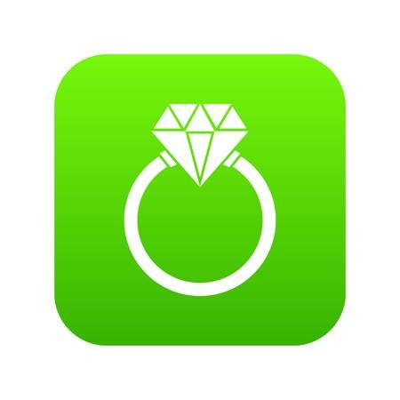 Ring LGBT icon digital green