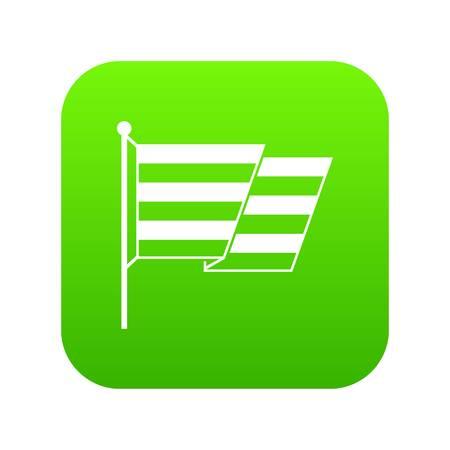 Flag LGBT icon digital green