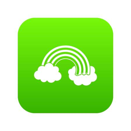 Rainbow LGBT icon digital green