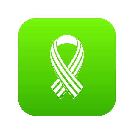 Ribbon LGBT icon digital green
