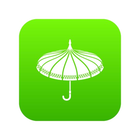 Umbrella icon green Stock Photo