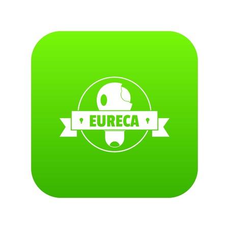Eureka idea icon green