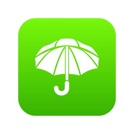 Nylon umbrella icon green Stock Photo