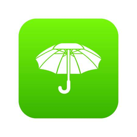 Big umbrella icon green
