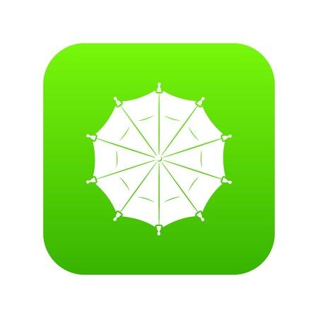 Round umbrella icon green