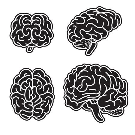 Brain mind icon set, simple style Stock Photo - 114536972