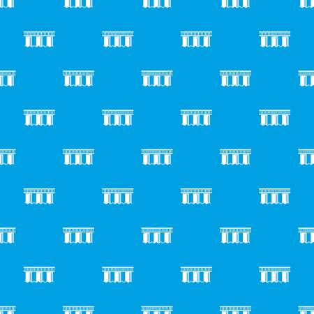 Urban bridge pattern seamless blue