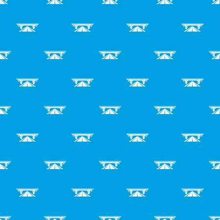 Concrete bridge pattern seamless blue