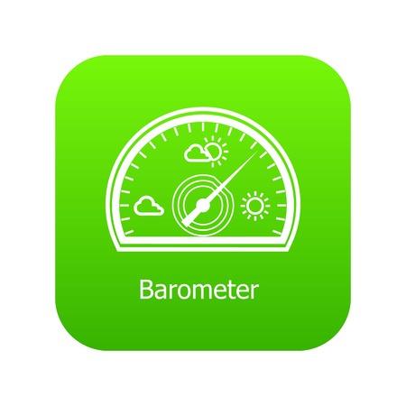 Barometer icon green Stock Photo