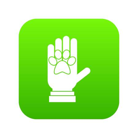 Donations for pets icon digital green