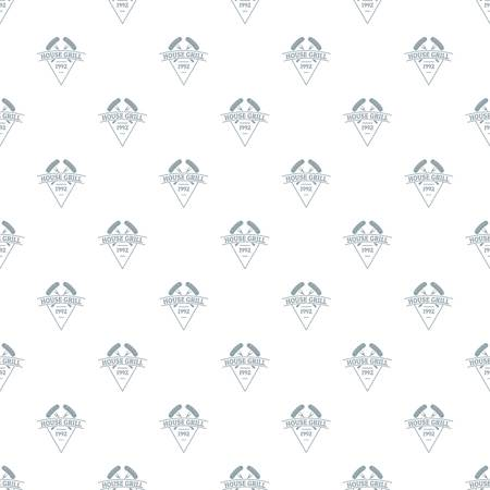 Grill house pattern vector seamless