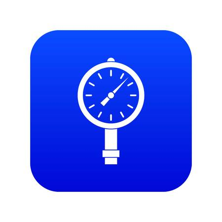 Manometer or pressure gauge icon digital blue for any design isolated on white vector illustration