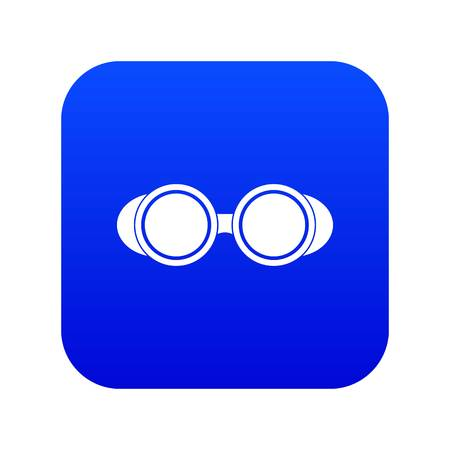 Welding glasses icon digital blue for any design isolated on white vector illustration
