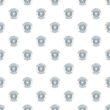 Barbecue house pattern vector seamless