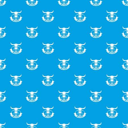 Wild west pattern vector seamless blue Illustration