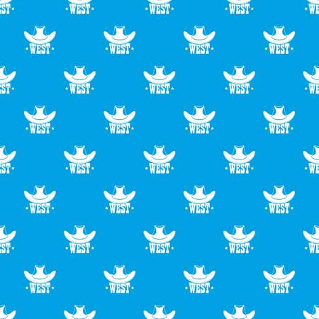 West pattern vector seamless blue