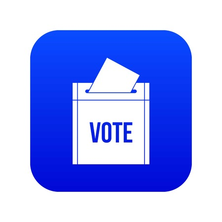 Ballot box icon digital blue for any design isolated on white vector illustration 向量圖像