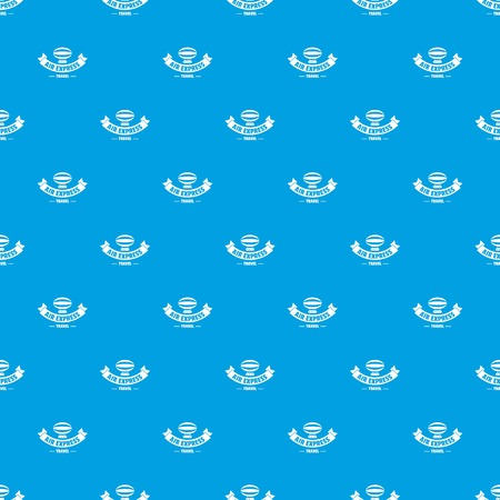 Tourism dirigible pattern vector seamless blue