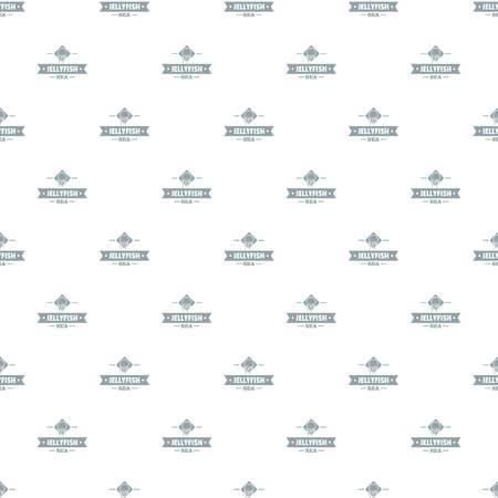 Jellyfish sea pattern vector seamless 向量圖像
