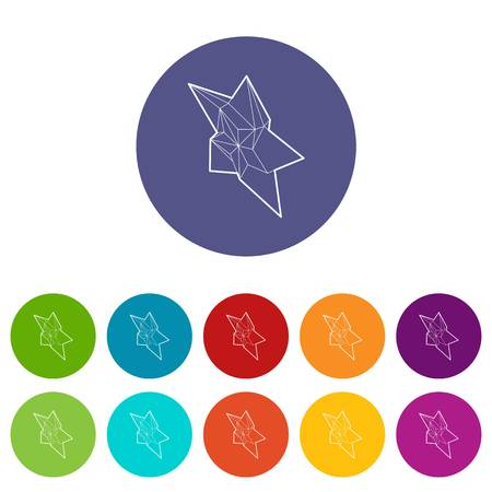 Star icons color set vector for any web design on white background