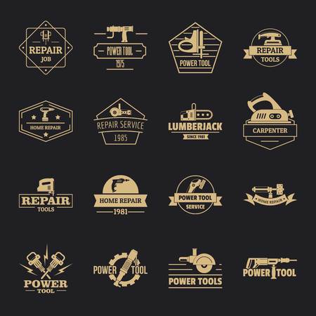 Electric tools icons set, simple style