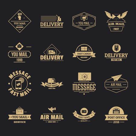 Delivery service icons set, simple style Stock Illustratie