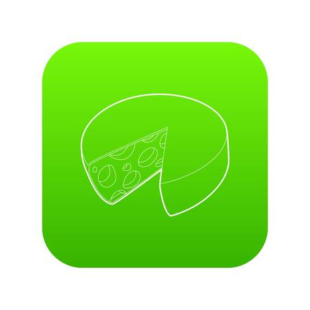 Cheese icon green vector 矢量图像