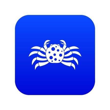 Crab sea animal icon digital blue Illustration