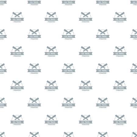 Sea travel pattern vector seamless