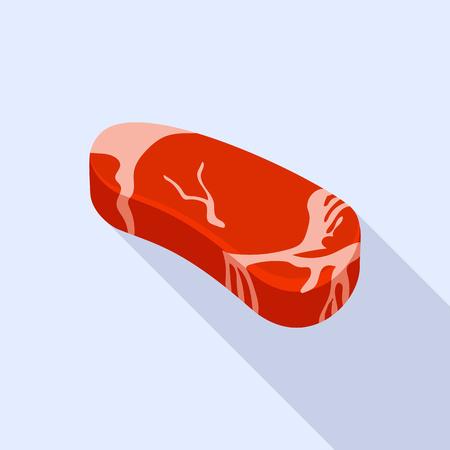 Pork steak icon. Flat illustration of pork steak vector icon for web design Иллюстрация