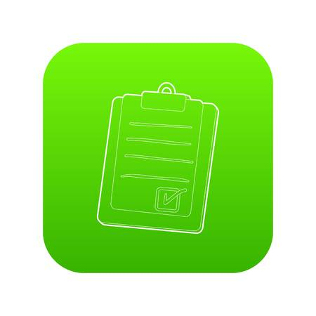 Plane tablet icon green vector
