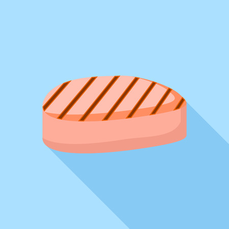 Prepared meat piece icon. Flat illustration of prepared meat piece vector icon for web design
