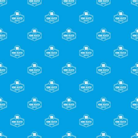 Heater pattern vector seamless blue 矢量图像