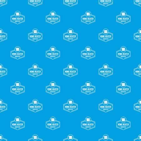 Heater pattern vector seamless blue Illustration