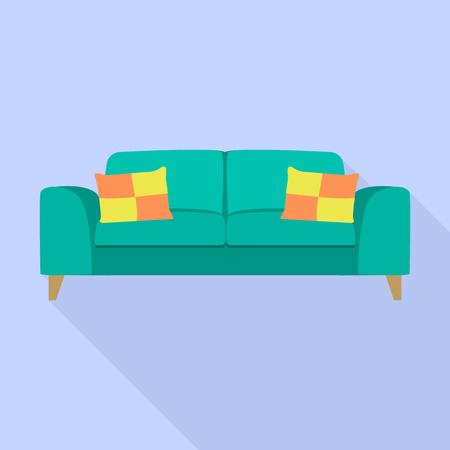 Zachte bank icoon. Vlakke afbeelding van zacht bank vectorpictogram voor webdesign